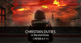 christian duties in the end time
